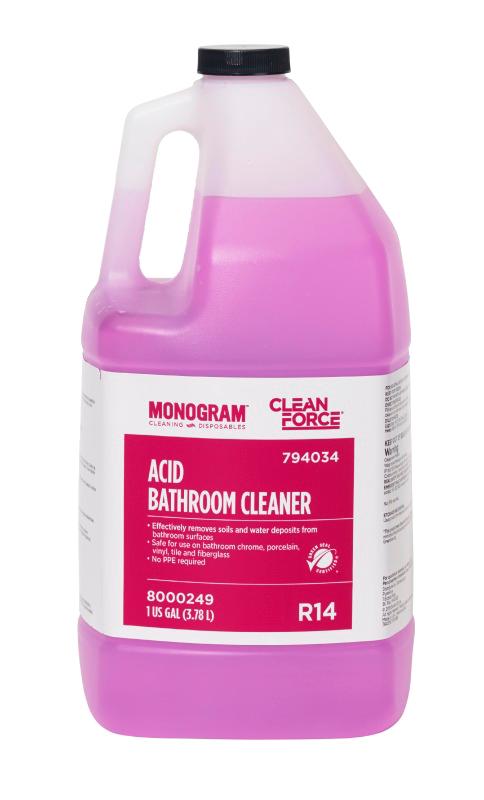 Monogram Clean Force Acid Bathroom Cleaner - Bathroom cleaning solution