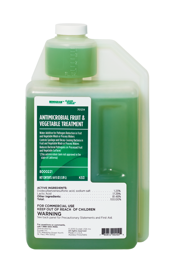 Monogram Clean Force Antimicrobial Fruit Vegetable Treatment