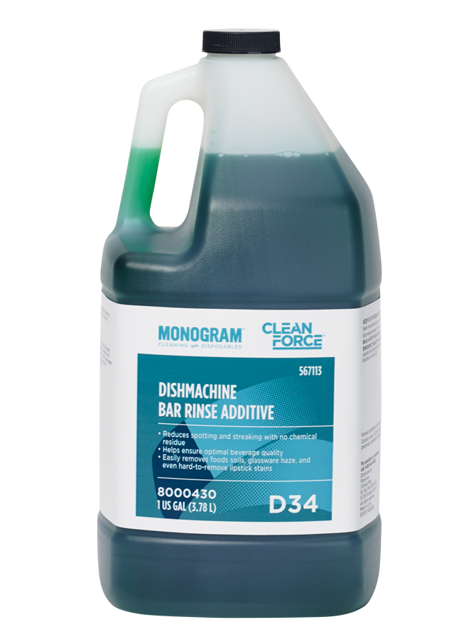Monogram Clean Force Dishmachine Bar Rinse Additive