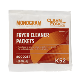 Monogram Clean Force Fryer Cleaner Packets