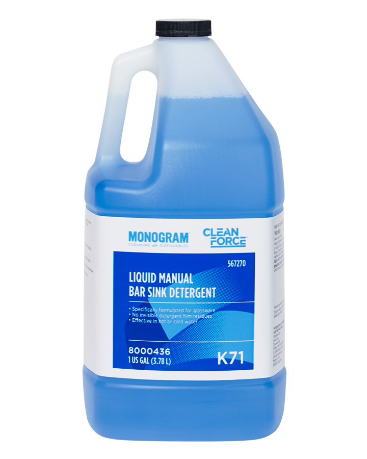 Monogram Clean Force Liquid Manual Bar Sink Detergent