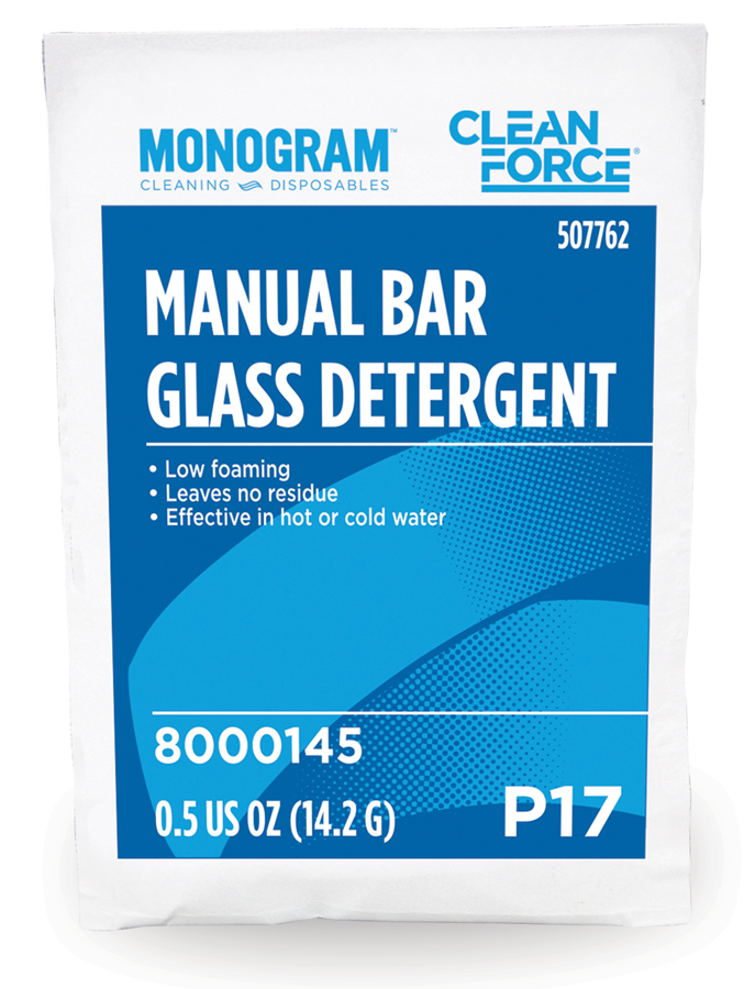 Monogram Clean Force Manual Bar Glass Detergent