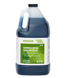Monogram Clean Force Silverware Presoak Liquid with Enzyme