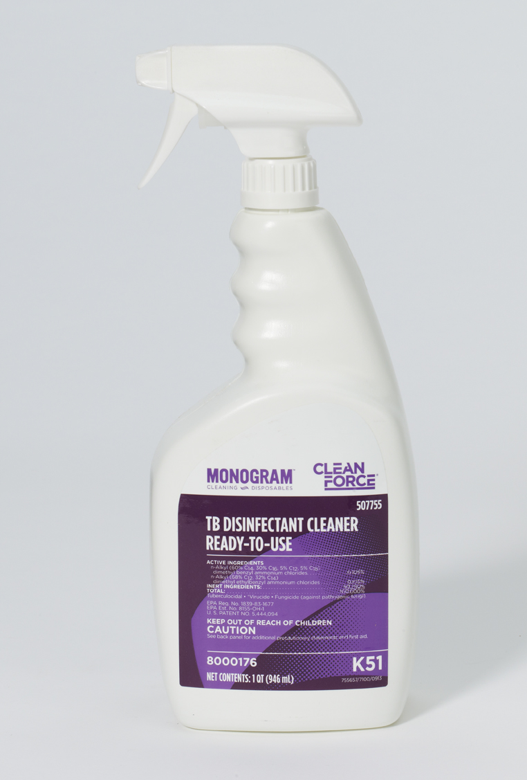 Monogram Clean Force TB Disinfectant Cleaner Ready To Use