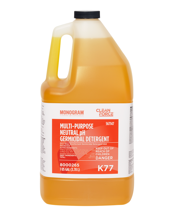 Multi Purpose Neutral pH Germicidal Detergent Monogram Clean Force